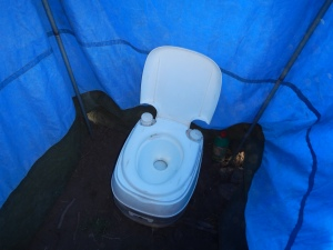 Great facilities during the trek - our toilet tent.