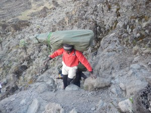 Balance, speed and fitness = the amazing porters of Kili!