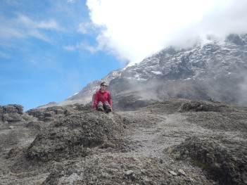 The view of Kili from Barranco Wall
