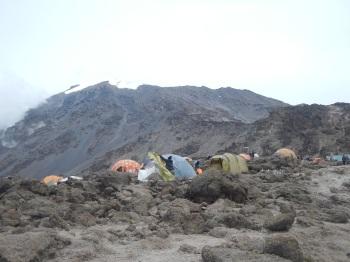 Kili Glaciers visible from Barafu Campsite [4,600M]