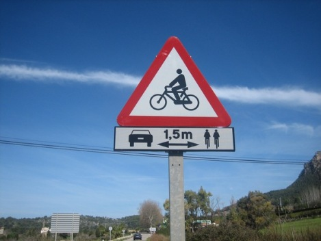 Cycling Road Sign